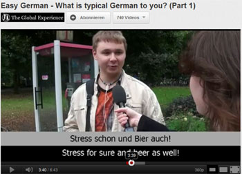 easy German screenshot youtube